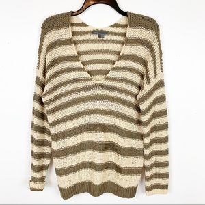 VINCE STRIPED SWEATER SIZE SMALL
